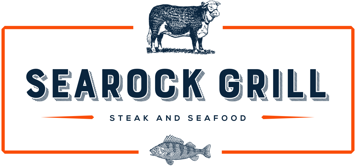 Searock Grill logo with cow and fish