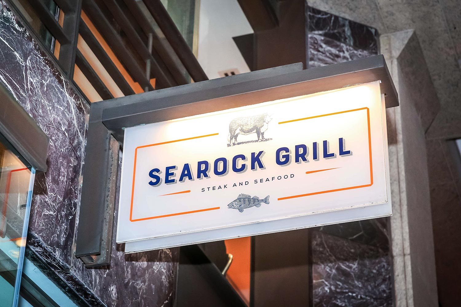 Searock Grill exterior sign